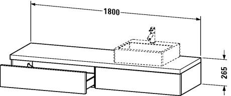 delos plan de toilette avec tiroirs pour vasques poser. Black Bedroom Furniture Sets. Home Design Ideas