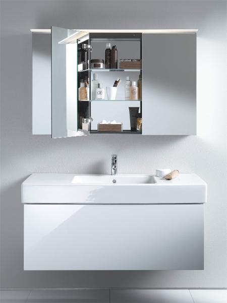 Armoire Haute De Salle De Bain armoires de toilette & miroirs avec éclairage   duravit