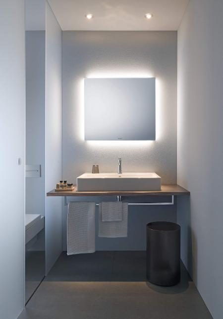 Meuble Haut Salle De Bain Avec Miroir eclairage et miroir | duravit